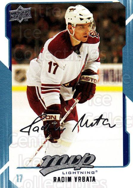 2008-09 Upper Deck MVP #260 Radim Vrbata<br/>6 In Stock - $1.00 each - <a href=https://centericecollectibles.foxycart.com/cart?name=2008-09%20Upper%20Deck%20MVP%20%23260%20Radim%20Vrbata...&quantity_max=6&price=$1.00&code=209076 class=foxycart> Buy it now! </a>