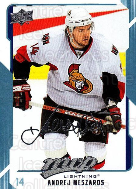 2008-09 Upper Deck MVP #269 Andrei Meszaros<br/>6 In Stock - $1.00 each - <a href=https://centericecollectibles.foxycart.com/cart?name=2008-09%20Upper%20Deck%20MVP%20%23269%20Andrei%20Meszaros...&quantity_max=6&price=$1.00&code=209085 class=foxycart> Buy it now! </a>