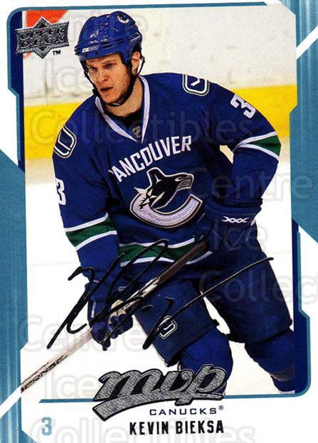 2008-09 Upper Deck MVP #285 Kevin Bieksa<br/>5 In Stock - $1.00 each - <a href=https://centericecollectibles.foxycart.com/cart?name=2008-09%20Upper%20Deck%20MVP%20%23285%20Kevin%20Bieksa...&quantity_max=5&price=$1.00&code=209101 class=foxycart> Buy it now! </a>