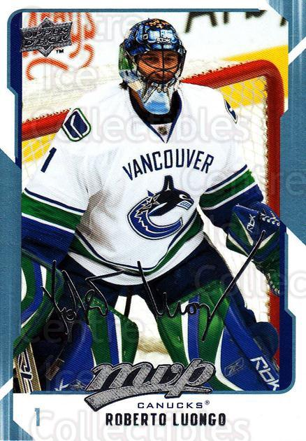 2008-09 Upper Deck MVP #286 Roberto Luongo<br/>6 In Stock - $1.00 each - <a href=https://centericecollectibles.foxycart.com/cart?name=2008-09%20Upper%20Deck%20MVP%20%23286%20Roberto%20Luongo...&quantity_max=6&price=$1.00&code=209102 class=foxycart> Buy it now! </a>