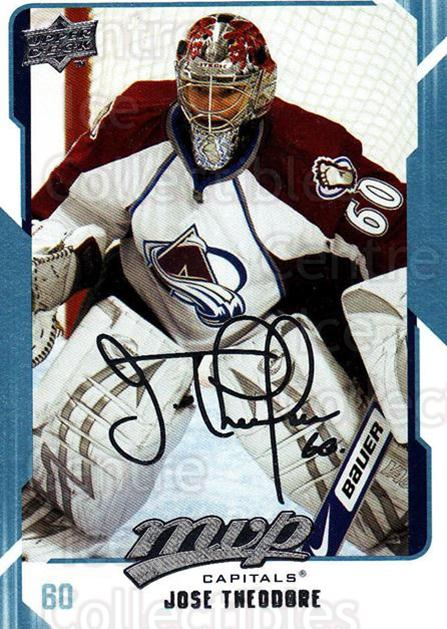 2008-09 Upper Deck MVP #290 Jose Theodore<br/>4 In Stock - $1.00 each - <a href=https://centericecollectibles.foxycart.com/cart?name=2008-09%20Upper%20Deck%20MVP%20%23290%20Jose%20Theodore...&quantity_max=4&price=$1.00&code=209106 class=foxycart> Buy it now! </a>