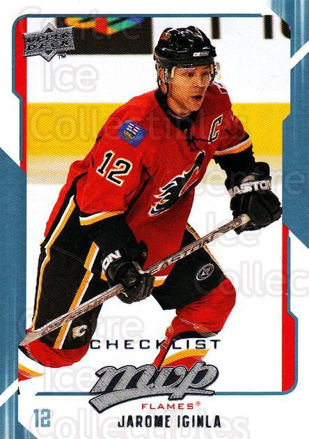 2008-09 Upper Deck MVP #298 Jarome Iginla, Checklist<br/>6 In Stock - $1.00 each - <a href=https://centericecollectibles.foxycart.com/cart?name=2008-09%20Upper%20Deck%20MVP%20%23298%20Jarome%20Iginla,%20...&quantity_max=6&price=$1.00&code=209114 class=foxycart> Buy it now! </a>