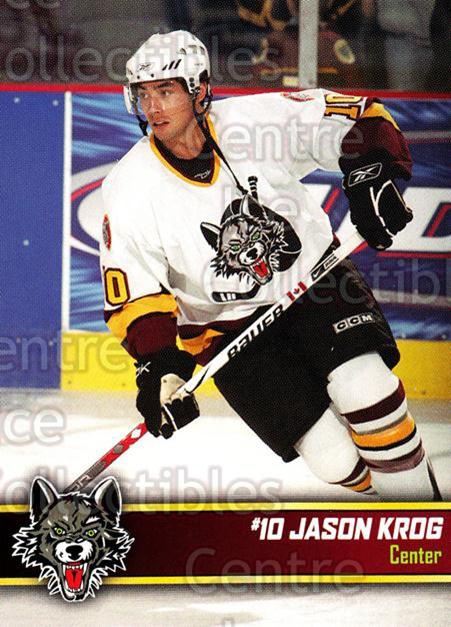 2006-07 Chicago Wolves #7 Jason Krog<br/>5 In Stock - $3.00 each - <a href=https://centericecollectibles.foxycart.com/cart?name=2006-07%20Chicago%20Wolves%20%237%20Jason%20Krog...&quantity_max=5&price=$3.00&code=209201 class=foxycart> Buy it now! </a>