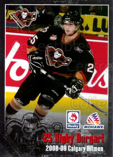 2008-09 Calgary Hitmen #3 Rigby Burgart<br/>4 In Stock - $3.00 each - <a href=https://centericecollectibles.foxycart.com/cart?name=2008-09%20Calgary%20Hitmen%20%233%20Rigby%20Burgart...&quantity_max=4&price=$3.00&code=209248 class=foxycart> Buy it now! </a>