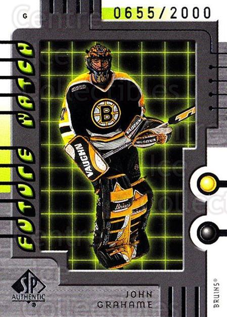 1999-00 SP Authentic #96 John Grahame<br/>1 In Stock - $5.00 each - <a href=https://centericecollectibles.foxycart.com/cart?name=1999-00%20SP%20Authentic%20%2396%20John%20Grahame...&price=$5.00&code=209363 class=foxycart> Buy it now! </a>