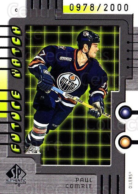 1999-00 SP Authentic #103 Paul Comrie<br/>2 In Stock - $5.00 each - <a href=https://centericecollectibles.foxycart.com/cart?name=1999-00%20SP%20Authentic%20%23103%20Paul%20Comrie...&price=$5.00&code=209368 class=foxycart> Buy it now! </a>