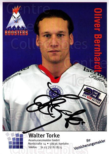 2003-04 German Iserlohn Roosters Postcards #2 Oliver Bernhardt<br/>2 In Stock - $3.00 each - <a href=https://centericecollectibles.foxycart.com/cart?name=2003-04%20German%20Iserlohn%20Roosters%20Postcards%20%232%20Oliver%20Bernhard...&quantity_max=2&price=$3.00&code=209424 class=foxycart> Buy it now! </a>