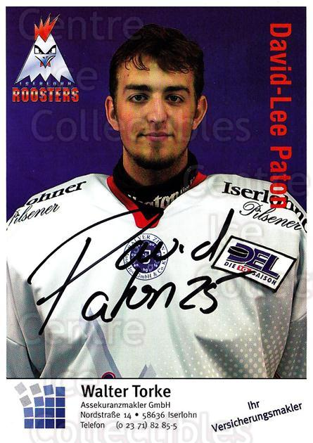 2003-04 German Iserlohn Roosters Postcards #18 David-Lee Paton<br/>1 In Stock - $3.00 each - <a href=https://centericecollectibles.foxycart.com/cart?name=2003-04%20German%20Iserlohn%20Roosters%20Postcards%20%2318%20David-Lee%20Paton...&quantity_max=1&price=$3.00&code=209429 class=foxycart> Buy it now! </a>