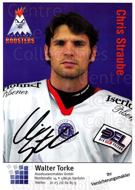2003-04 German Iserlohn Roosters Postcards #20 Chris Straube<br/>2 In Stock - $3.00 each - <a href=https://centericecollectibles.foxycart.com/cart?name=2003-04%20German%20Iserlohn%20Roosters%20Postcards%20%2320%20Chris%20Straube...&quantity_max=2&price=$3.00&code=209430 class=foxycart> Buy it now! </a>