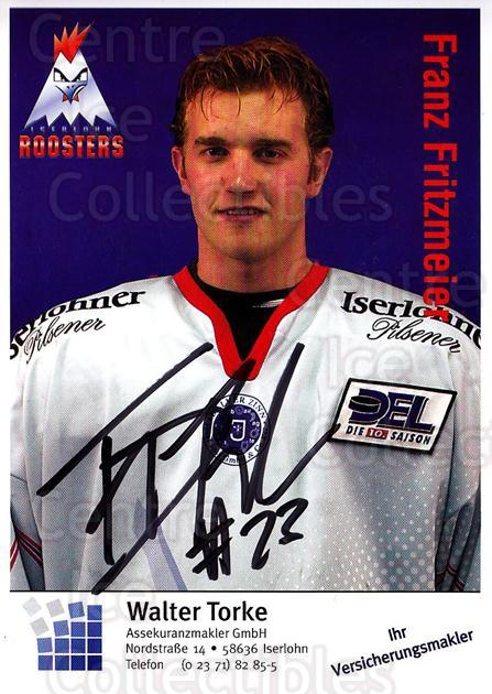 2003-04 German Iserlohn Roosters Postcards #10 Franz Fritzmeier<br/>1 In Stock - $3.00 each - <a href=https://centericecollectibles.foxycart.com/cart?name=2003-04%20German%20Iserlohn%20Roosters%20Postcards%20%2310%20Franz%20Fritzmeie...&quantity_max=1&price=$3.00&code=209432 class=foxycart> Buy it now! </a>