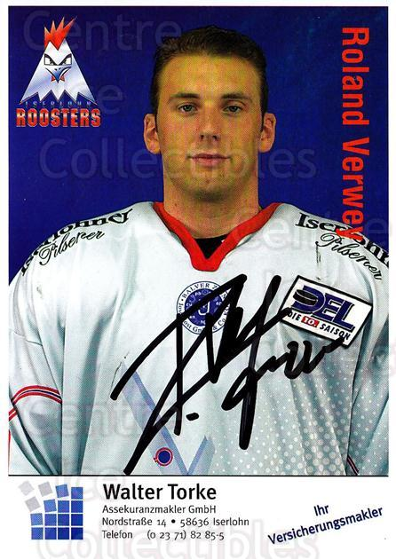 2003-04 German Iserlohn Roosters Postcards #21 Roland Verwey<br/>2 In Stock - $3.00 each - <a href=https://centericecollectibles.foxycart.com/cart?name=2003-04%20German%20Iserlohn%20Roosters%20Postcards%20%2321%20Roland%20Verwey...&quantity_max=2&price=$3.00&code=209436 class=foxycart> Buy it now! </a>