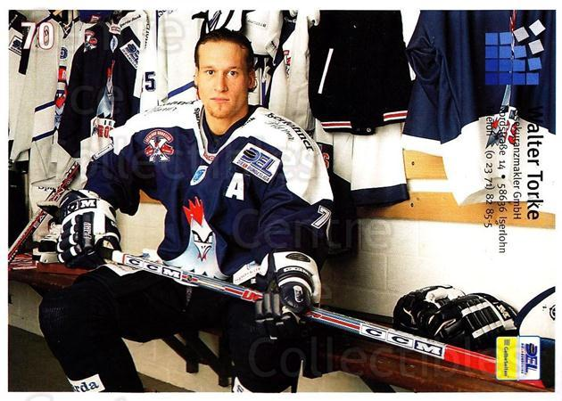 2004-05 German Iserlohn Roosters Postcards #8 Oliver Bernhardt<br/>2 In Stock - $3.00 each - <a href=https://centericecollectibles.foxycart.com/cart?name=2004-05%20German%20Iserlohn%20Roosters%20Postcards%20%238%20Oliver%20Bernhard...&quantity_max=2&price=$3.00&code=209446 class=foxycart> Buy it now! </a>