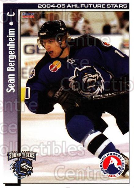 2004-05 AHL Future Stars #6 Sean Bergenheim<br/>6 In Stock - $3.00 each - <a href=https://centericecollectibles.foxycart.com/cart?name=2004-05%20AHL%20Future%20Stars%20%236%20Sean%20Bergenheim...&price=$3.00&code=209883 class=foxycart> Buy it now! </a>