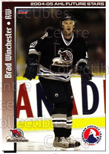2004-05 AHL Future Stars #12 Brad Winchester<br/>5 In Stock - $3.00 each - <a href=https://centericecollectibles.foxycart.com/cart?name=2004-05%20AHL%20Future%20Stars%20%2312%20Brad%20Winchester...&price=$3.00&code=209889 class=foxycart> Buy it now! </a>