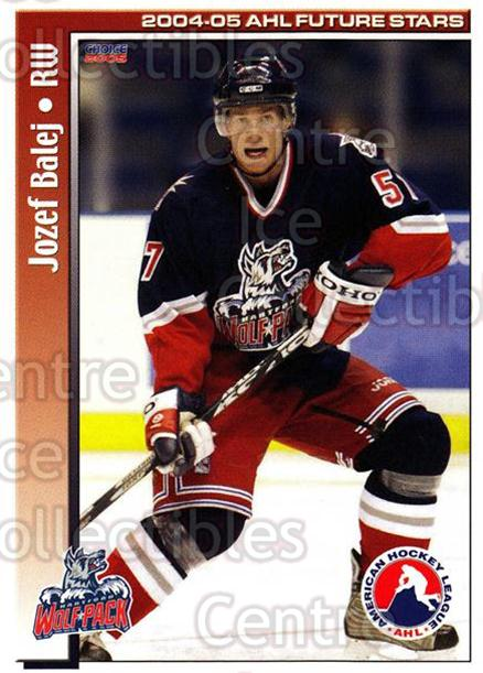 2004-05 AHL Future Stars #18 Jozef Balej<br/>1 In Stock - $3.00 each - <a href=https://centericecollectibles.foxycart.com/cart?name=2004-05%20AHL%20Future%20Stars%20%2318%20Jozef%20Balej...&price=$3.00&code=209895 class=foxycart> Buy it now! </a>