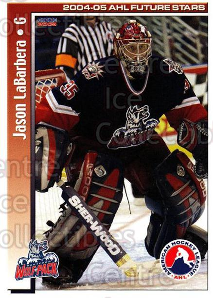 2004-05 AHL Future Stars #19 Jason LaBarbera<br/>4 In Stock - $3.00 each - <a href=https://centericecollectibles.foxycart.com/cart?name=2004-05%20AHL%20Future%20Stars%20%2319%20Jason%20LaBarbera...&quantity_max=4&price=$3.00&code=209896 class=foxycart> Buy it now! </a>