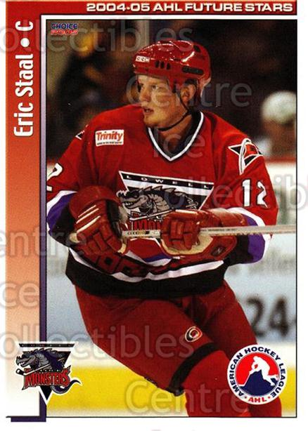 2004-05 AHL Future Stars #24 Eric Staal<br/>6 In Stock - $3.00 each - <a href=https://centericecollectibles.foxycart.com/cart?name=2004-05%20AHL%20Future%20Stars%20%2324%20Eric%20Staal...&quantity_max=6&price=$3.00&code=209901 class=foxycart> Buy it now! </a>
