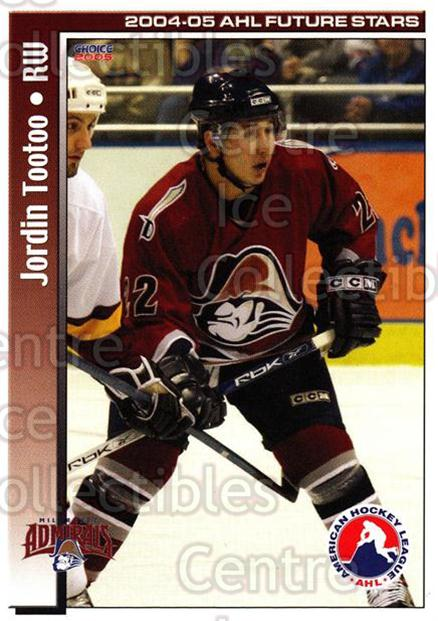 2004-05 AHL Future Stars #35 Jordin Tootoo<br/>4 In Stock - $3.00 each - <a href=https://centericecollectibles.foxycart.com/cart?name=2004-05%20AHL%20Future%20Stars%20%2335%20Jordin%20Tootoo...&quantity_max=4&price=$3.00&code=209912 class=foxycart> Buy it now! </a>