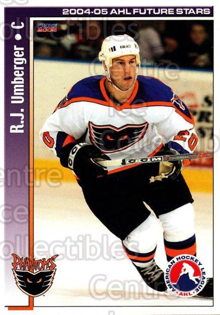 2004-05 AHL Future Stars #38 RJ Umberger<br/>6 In Stock - $3.00 each - <a href=https://centericecollectibles.foxycart.com/cart?name=2004-05%20AHL%20Future%20Stars%20%2338%20RJ%20Umberger...&price=$3.00&code=209915 class=foxycart> Buy it now! </a>