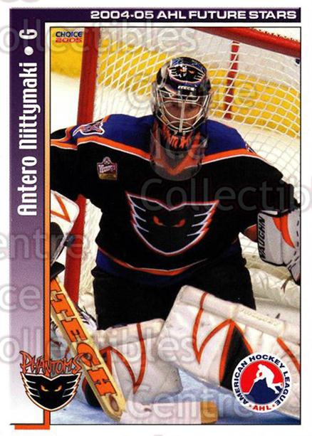 2004-05 AHL Future Stars #40 Antero Niittymaki<br/>4 In Stock - $3.00 each - <a href=https://centericecollectibles.foxycart.com/cart?name=2004-05%20AHL%20Future%20Stars%20%2340%20Antero%20Niittyma...&price=$3.00&code=209917 class=foxycart> Buy it now! </a>
