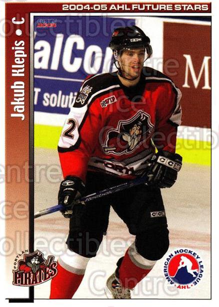 2004-05 AHL Future Stars #42 Jakub Klepis<br/>5 In Stock - $3.00 each - <a href=https://centericecollectibles.foxycart.com/cart?name=2004-05%20AHL%20Future%20Stars%20%2342%20Jakub%20Klepis...&quantity_max=5&price=$3.00&code=209919 class=foxycart> Buy it now! </a>