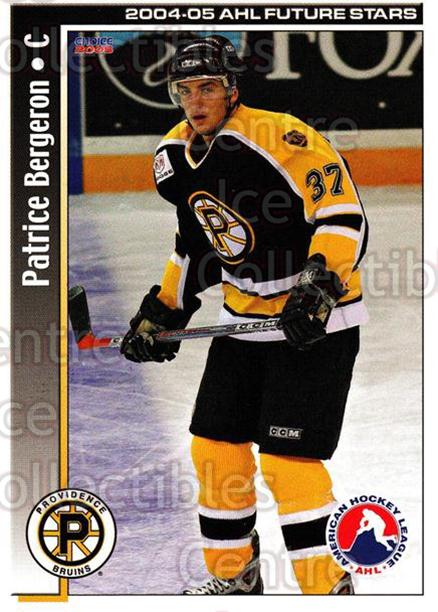 2004-05 AHL Future Stars #43 Patrice Bergeron<br/>1 In Stock - $3.00 each - <a href=https://centericecollectibles.foxycart.com/cart?name=2004-05%20AHL%20Future%20Stars%20%2343%20Patrice%20Bergero...&price=$3.00&code=209920 class=foxycart> Buy it now! </a>