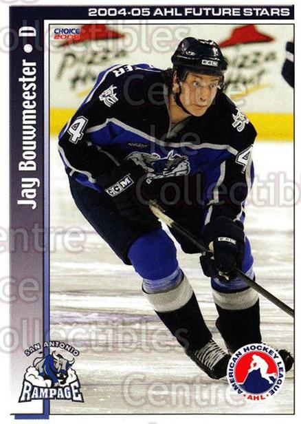 2004-05 AHL Future Stars #48 Jay Bouwmeester<br/>6 In Stock - $3.00 each - <a href=https://centericecollectibles.foxycart.com/cart?name=2004-05%20AHL%20Future%20Stars%20%2348%20Jay%20Bouwmeester...&quantity_max=6&price=$3.00&code=209925 class=foxycart> Buy it now! </a>