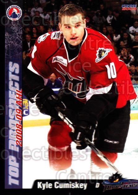 2008-09 AHL Top Prospects #18 Kyle Cumiskey<br/>3 In Stock - $3.00 each - <a href=https://centericecollectibles.foxycart.com/cart?name=2008-09%20AHL%20Top%20Prospects%20%2318%20Kyle%20Cumiskey...&quantity_max=3&price=$3.00&code=209956 class=foxycart> Buy it now! </a>