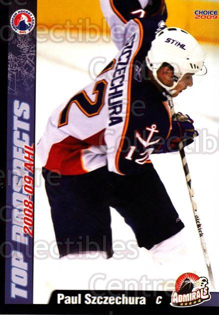 2008-09 AHL Top Prospects #27 Paul Szczechura<br/>2 In Stock - $3.00 each - <a href=https://centericecollectibles.foxycart.com/cart?name=2008-09%20AHL%20Top%20Prospects%20%2327%20Paul%20Szczechura...&quantity_max=2&price=$3.00&code=209965 class=foxycart> Buy it now! </a>