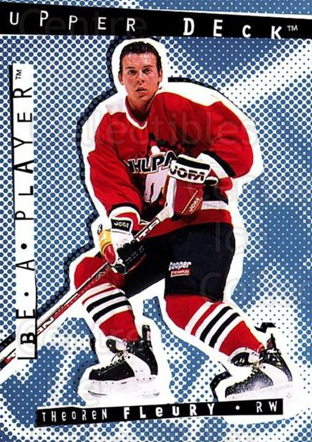 1994-95 Be A Player #23 Theo Fleury<br/>6 In Stock - $1.00 each - <a href=https://centericecollectibles.foxycart.com/cart?name=1994-95%20Be%20A%20Player%20%2323%20Theo%20Fleury...&quantity_max=6&price=$1.00&code=2099 class=foxycart> Buy it now! </a>