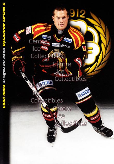 2008-09 Swedish Brynas IF Tigers Postcards #2 Niclas Andersen<br/>1 In Stock - $3.00 each - <a href=https://centericecollectibles.foxycart.com/cart?name=2008-09%20Swedish%20Brynas%20IF%20Tigers%20Postcards%20%232%20Niclas%20Andersen...&quantity_max=1&price=$3.00&code=210072 class=foxycart> Buy it now! </a>