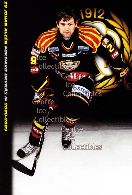 2008-09 Swedish Brynas IF Tigers Postcards #1 Johan Alcen<br/>2 In Stock - $3.00 each - <a href=https://centericecollectibles.foxycart.com/cart?name=2008-09%20Swedish%20Brynas%20IF%20Tigers%20Postcards%20%231%20Johan%20Alcen...&quantity_max=2&price=$3.00&code=210086 class=foxycart> Buy it now! </a>