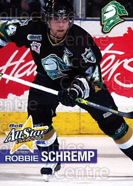 2005-06 OHL Bell AS Classic #32 Rob Schremp<br/>2 In Stock - $3.00 each - <a href=https://centericecollectibles.foxycart.com/cart?name=2005-06%20OHL%20Bell%20AS%20Classic%20%2332%20Rob%20Schremp...&quantity_max=2&price=$3.00&code=210315 class=foxycart> Buy it now! </a>