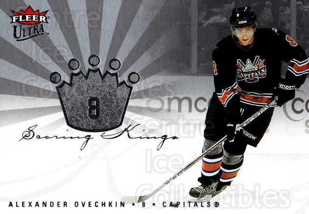 2005-06 Ultra Scoring Kings #18 Alexander Ovechkin<br/>1 In Stock - $3.00 each - <a href=https://centericecollectibles.foxycart.com/cart?name=2005-06%20Ultra%20Scoring%20Kings%20%2318%20Alexander%20Ovech...&price=$3.00&code=210389 class=foxycart> Buy it now! </a>