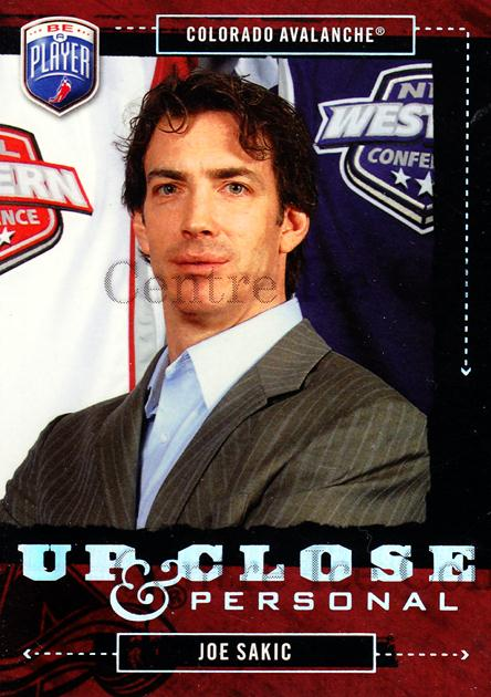 2006-07 Be a Player Up Close and Personal #25 Joe Sakic<br/>2 In Stock - $5.00 each - <a href=https://centericecollectibles.foxycart.com/cart?name=2006-07%20Be%20a%20Player%20Up%20Close%20and%20Personal%20%2325%20Joe%20Sakic...&quantity_max=2&price=$5.00&code=210506 class=foxycart> Buy it now! </a>