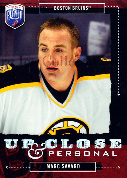 2006-07 Be a Player Up Close and Personal #28 Marc Savard<br/>2 In Stock - $3.00 each - <a href=https://centericecollectibles.foxycart.com/cart?name=2006-07%20Be%20a%20Player%20Up%20Close%20and%20Personal%20%2328%20Marc%20Savard...&quantity_max=2&price=$3.00&code=210509 class=foxycart> Buy it now! </a>