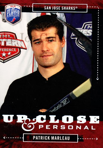 2006-07 Be a Player Up Close and Personal #43 Patrick Marleau<br/>2 In Stock - $3.00 each - <a href=https://centericecollectibles.foxycart.com/cart?name=2006-07%20Be%20a%20Player%20Up%20Close%20and%20Personal%20%2343%20Patrick%20Marleau...&quantity_max=2&price=$3.00&code=210524 class=foxycart> Buy it now! </a>
