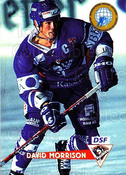 1996-97 German DEL #233 David Morrison<br/>3 In Stock - $2.00 each - <a href=https://centericecollectibles.foxycart.com/cart?name=1996-97%20German%20DEL%20%23233%20David%20Morrison...&quantity_max=3&price=$2.00&code=210618 class=foxycart> Buy it now! </a>