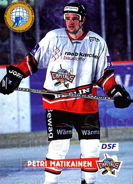1996-97 German DEL #255 Petri Matikainen<br/>4 In Stock - $2.00 each - <a href=https://centericecollectibles.foxycart.com/cart?name=1996-97%20German%20DEL%20%23255%20Petri%20Matikaine...&quantity_max=4&price=$2.00&code=210620 class=foxycart> Buy it now! </a>