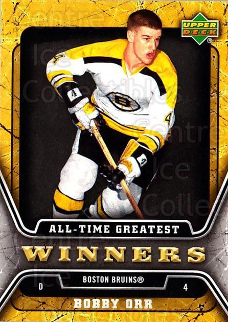 2006-07 Upper Deck All-Time Greatest #3 Bobby Orr<br/>1 In Stock - $10.00 each - <a href=https://centericecollectibles.foxycart.com/cart?name=2006-07%20Upper%20Deck%20All-Time%20Greatest%20%233%20Bobby%20Orr...&quantity_max=1&price=$10.00&code=210631 class=foxycart> Buy it now! </a>