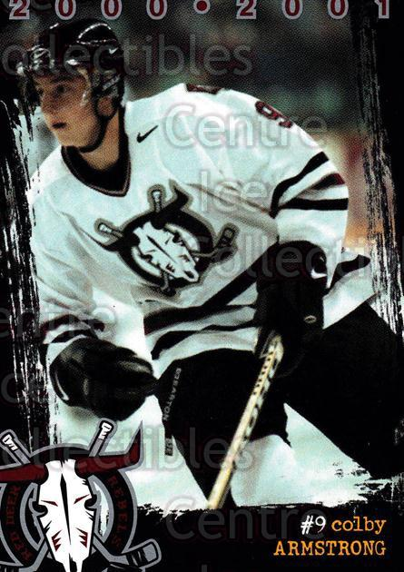 2000-01 Red Deer Rebels #1 Colby Armstrong<br/>2 In Stock - $3.00 each - <a href=https://centericecollectibles.foxycart.com/cart?name=2000-01%20Red%20Deer%20Rebels%20%231%20Colby%20Armstrong...&price=$3.00&code=210657 class=foxycart> Buy it now! </a>