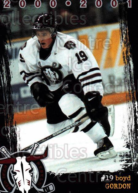 2000-01 Red Deer Rebels #6 Boyd Gordon<br/>2 In Stock - $3.00 each - <a href=https://centericecollectibles.foxycart.com/cart?name=2000-01%20Red%20Deer%20Rebels%20%236%20Boyd%20Gordon...&price=$3.00&code=210663 class=foxycart> Buy it now! </a>