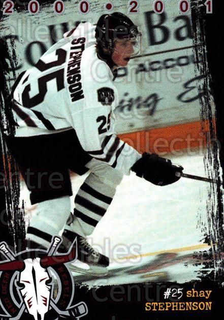 2000-01 Red Deer Rebels #16 Shay Stephenson<br/>3 In Stock - $3.00 each - <a href=https://centericecollectibles.foxycart.com/cart?name=2000-01%20Red%20Deer%20Rebels%20%2316%20Shay%20Stephenson...&price=$3.00&code=210666 class=foxycart> Buy it now! </a>