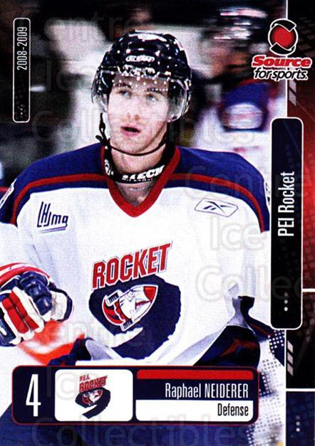 2008-09 Prince Edward Island Rocket #5 Raphael Neiderer<br/>3 In Stock - $3.00 each - <a href=https://centericecollectibles.foxycart.com/cart?name=2008-09%20Prince%20Edward%20Island%20Rocket%20%235%20Raphael%20Neidere...&quantity_max=3&price=$3.00&code=210673 class=foxycart> Buy it now! </a>