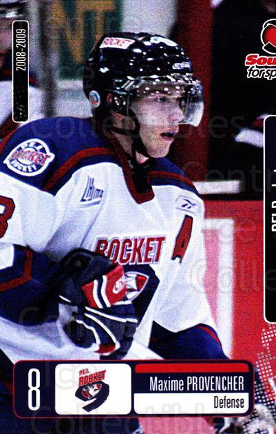 2008-09 Prince Edward Island Rocket #9 Maxime Provencher<br/>3 In Stock - $3.00 each - <a href=https://centericecollectibles.foxycart.com/cart?name=2008-09%20Prince%20Edward%20Island%20Rocket%20%239%20Maxime%20Provench...&quantity_max=3&price=$3.00&code=210677 class=foxycart> Buy it now! </a>