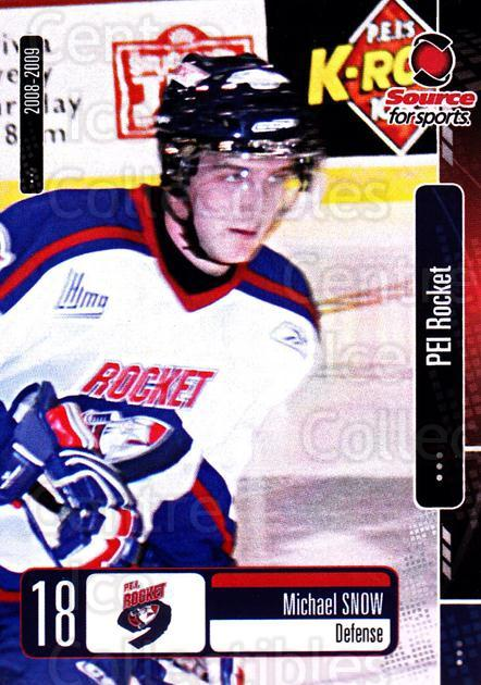 2008-09 Prince Edward Island Rocket #16 Michael Snow<br/>1 In Stock - $3.00 each - <a href=https://centericecollectibles.foxycart.com/cart?name=2008-09%20Prince%20Edward%20Island%20Rocket%20%2316%20Michael%20Snow...&quantity_max=1&price=$3.00&code=210684 class=foxycart> Buy it now! </a>