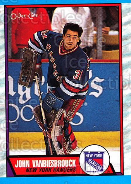 1989-90 O-Pee-Chee #114 John Vanbiesbrouck<br/>7 In Stock - $1.00 each - <a href=https://centericecollectibles.foxycart.com/cart?name=1989-90%20O-Pee-Chee%20%23114%20John%20Vanbiesbro...&quantity_max=7&price=$1.00&code=21070 class=foxycart> Buy it now! </a>