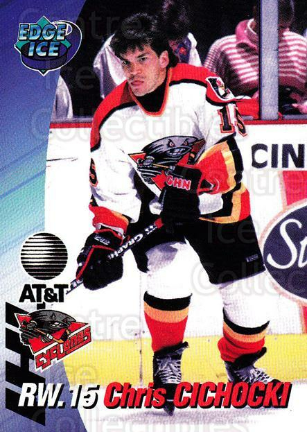 1995-96 Cincinnati Cyclones #3 Chris Cichocki<br/>2 In Stock - $3.00 each - <a href=https://centericecollectibles.foxycart.com/cart?name=1995-96%20Cincinnati%20Cyclones%20%233%20Chris%20Cichocki...&quantity_max=2&price=$3.00&code=210711 class=foxycart> Buy it now! </a>