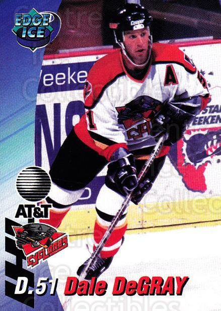 1995-96 Cincinnati Cyclones #5 Dale DeGray<br/>2 In Stock - $3.00 each - <a href=https://centericecollectibles.foxycart.com/cart?name=1995-96%20Cincinnati%20Cyclones%20%235%20Dale%20DeGray...&quantity_max=2&price=$3.00&code=210713 class=foxycart> Buy it now! </a>