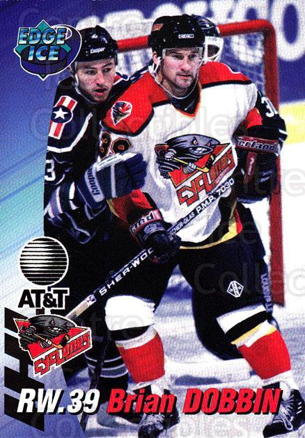 1995-96 Cincinnati Cyclones #6 Brian Dobbin<br/>3 In Stock - $3.00 each - <a href=https://centericecollectibles.foxycart.com/cart?name=1995-96%20Cincinnati%20Cyclones%20%236%20Brian%20Dobbin...&quantity_max=3&price=$3.00&code=210714 class=foxycart> Buy it now! </a>